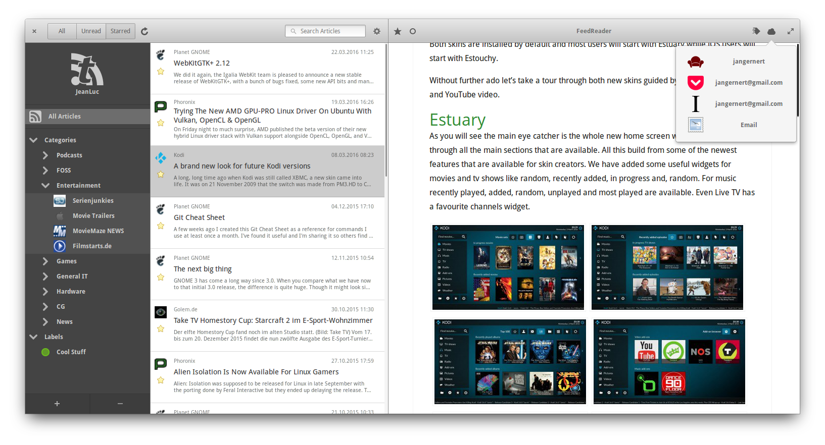 mac os rss reader widget